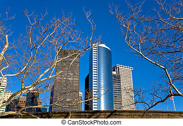 skyscrapers in Battery Park City