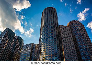 Skyscrapers in Boston, Massachusetts.
