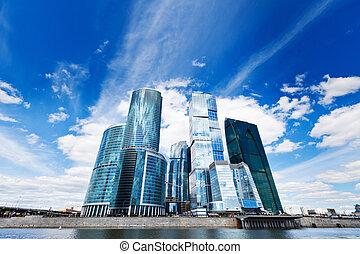 Skyscrapers in business centre