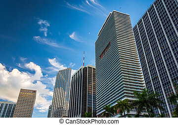 Skyscrapers in downtown Miami, Florida.