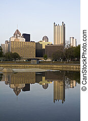 Downtown Pittsburgh reflected