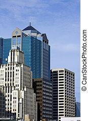 Skyscrapers in Kansas City, Missouri, USA.