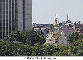 Skyscrapers in Kiev church, Ukraine