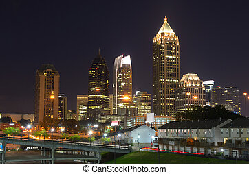 Midtown Atlanta - Skyscrapers in Midtown Atlanta, Georgia,...