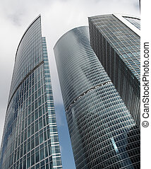 Skyscrapers in new Moscow City center
