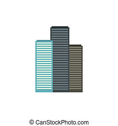 Skyscrapers in Singapore icon, flat style