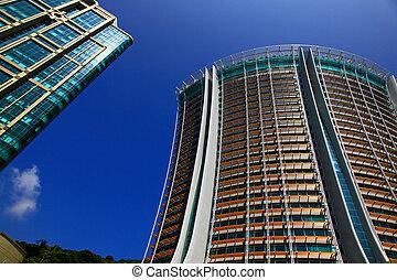 Skyscrapers in the Hong Kong