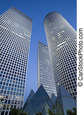 Skyscrapers - Modern office building, Tel-Aviv, Israel