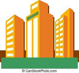 Skyscrapers - Modern style skyscrapers.