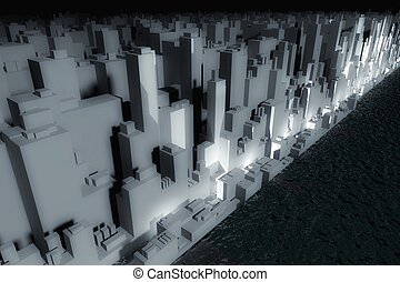 Skyscrapers of future modern city