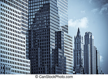 skyscrapers of manhattan, new york, usa