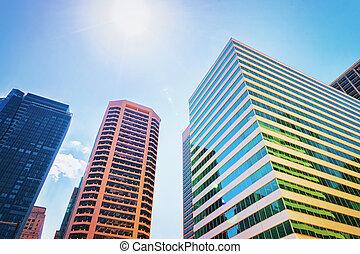 Skyscrapers on Arch Street in Philadelphia
