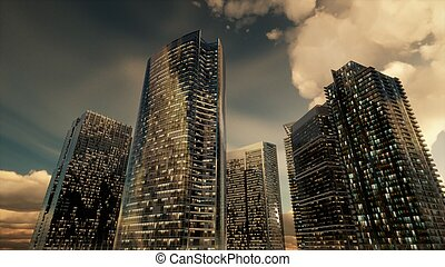Skyscrapers or Modern Buildings in the City