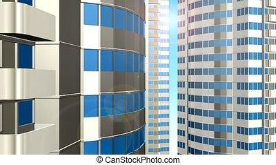 Skyscrapers - 3d generated skyscrapers