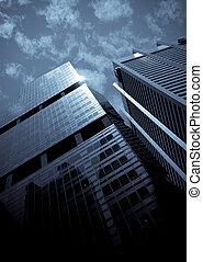 skyscrapers, typical urban cityscape