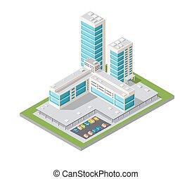 Skyscrapers urban design.