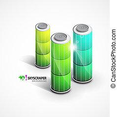 Skyscrapers vector background