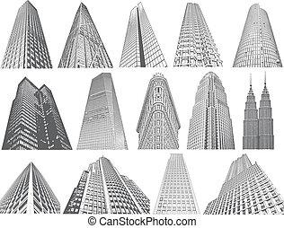 Skyscrapers- vector set