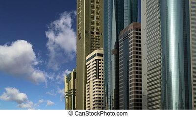 skyscrapers,Sheikh zayed road,Dubai - Modern skyscrapers,...
