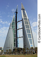 Skyscrepper in the center of Manama city, Bahrein