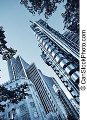 skyskrapor, in, londons stad