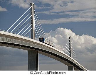 SkyTrain bridge in Richmond