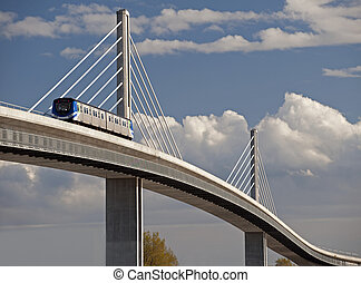 SkyTrain bridge in Richmond