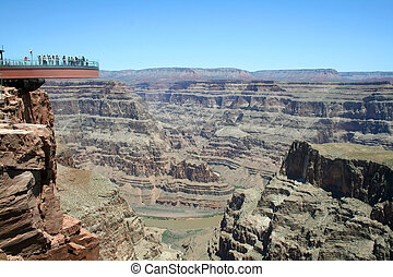 Skywalk Grand Canyon - The glass skywalk observation bridge...