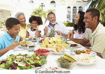 släkt ätande, en, alabama freskomålning, måltiden