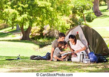 släkt campa, i parken