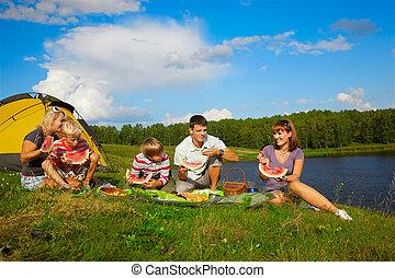 släkt picknick