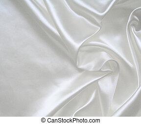 slät,  elegant, bakgrund, bröllop, vit, silke