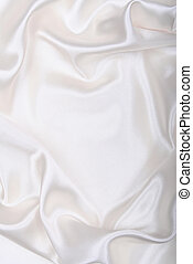 slät, elegant, vit, silke, som, bröllop, bakgrund