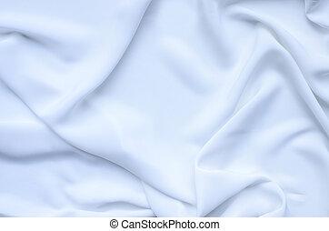 slät, vit, silke, bakgrund