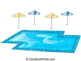 slå samman, simning