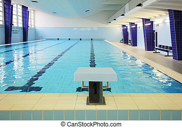 slå samman, simning, inomhus