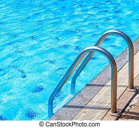 slå samman, trappsteg, simning