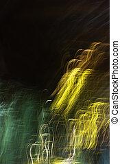 slør, abstrakt, lights.