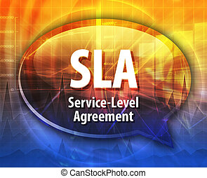 SLA acronym definition speech bubble illustration