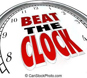 sla de klok, woorden, deadline, aftellen