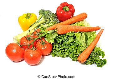 sla, leafy, groene, toma