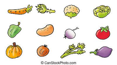 sla, pepers, boerenkool, groentes