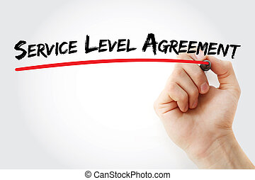 SLA - Service Level Agreement acronym, business concept...