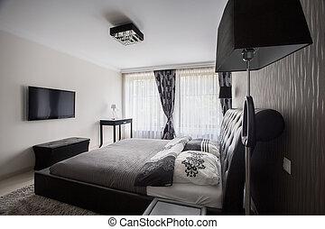 Stijl deco kunst licht moderne kleuren beige slaapkamer