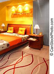 slaapkamer, moderne, detail