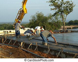 Slab Foundation Laborers