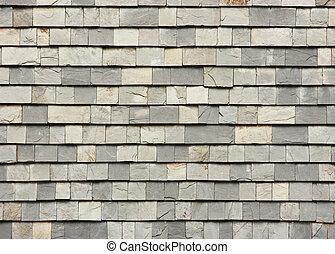 Slab roof tiles - Gray slab roof tiles