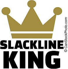 Slackline king with crown