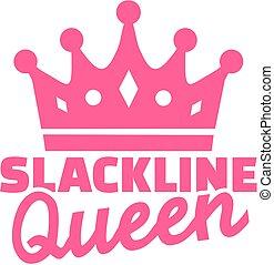 Slackline queen with crown