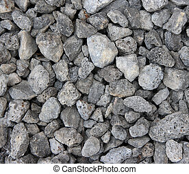 Slag stones - the waste from iron ore